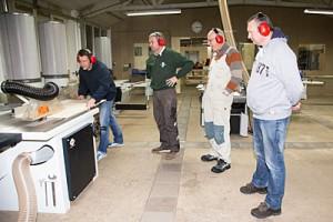 Cursisten van de cursus machinale houtbewerking